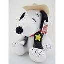 "Western Cowboy Outlaw Sheriff 6"" Snoopy Plush Doll"