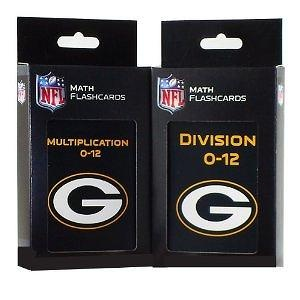 NFL Green Bay Packers Multiplication and Division Flash Cards