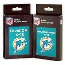 NFL Miami Dolphins Multiplication and Division Flash Cards