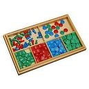 Montessori Stamp Game with Problem Paper