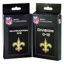 NFL New Orleans Saints Multiplication and Division Flash Cards