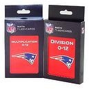 NFL New England Patriots Multiplication and Division Flash Cards