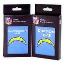 NFL San Diego Chargers Multiplication and Division Flash Cards