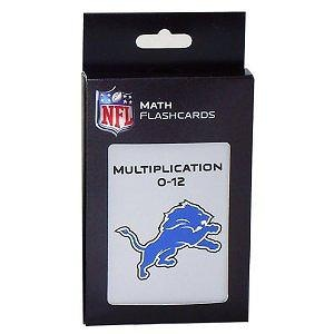 NFL Detroit Lions Multiplication Flash Cards