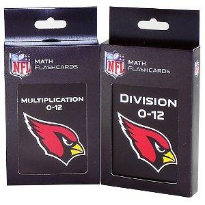 NFL Arizona Cardinals Multiplication and Division Flash Cards