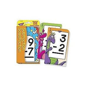 Soustraction Subtraction (French) Pocket Flash Cards