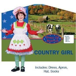 Adorable Country Girl Childrens Costume Size: Medium Adorable Country Girl Childrens Costume