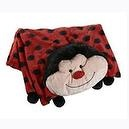 The Original My Pillow Pets Lady Bug Blanket (Red and Black)