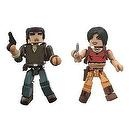 Sony Minimates Exclusive Mini Figure 2Pack Nathan Drake Chloe Frazer Uncharted