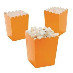 Mini Popcorn Boxes - Orange - Party Favor & Goody Bags & Paper Goody Bags & Boxes