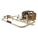 PlanToys Road & Rail Railway Station Play Set