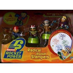 Rocket Power Radical Rocket Stampers 4 Pack Including Twister, Otto, Sam and Reggie