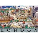 London Montage 250 Piece Wooden Jigsaw Puzzle
