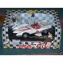 Unifive Speed Racer Mach 5 Diecast Metal with 2 figures - Real Lights - Japan Exclusive Made in 2000 and sold out.