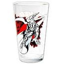 Toon Tumblers Clear Pint Glass: Silver Surfer