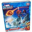 Marvel Heroes 100-piece Puzzle - Spiderman, Silver Surfer, Human Torch & Storm