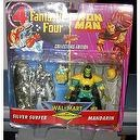 "FANTASTIC FOUR/IRONMAN WALMART EXCLUSIVE 2 PACK ""SILVER SURFER & MANDARIN"" w/ BONUS COLLECTOR PIN MOC"