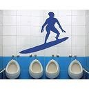 Best Quality Vinyl Wall Sticker Decals - Surfer ( Size: 12in x 10in - Color: silver ) - No: 1147  Best Quality Vinyl Wall Stick