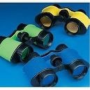 12 Plastic Kids Binoculars, Asst Colors, Party Favors, Pretend Play
