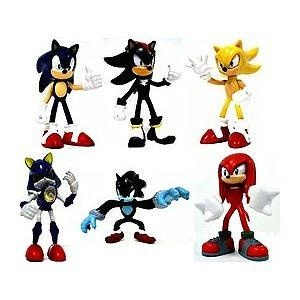 Tomy Gacha Set Of 6 Sonic The Hedgehog Buildable 25 Inch Mini Figures Shadow Werehog Metal Knuckles Super Soni