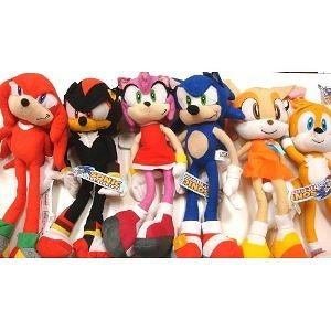 Sega Sonic The Hedgehog X Shadow Amy Knuckles Tails And Cream 6 Large Plush Doll Stuffed Toy 15 Inches