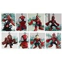 Unique Super Hero Set of 8 Peter Parker Amazing Spiderman Christmas Tree Ornaments Featuring Spider Man in Varsious Poses - Uni