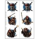 Pirates of the Caribbean 4 - Tattoo Sheets (2 count)  Party Temporary Tattoos , 1 pkg