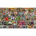 RoomMates JL1175M Marvel Comic Book Covers Prepasted Chair Rail Wall Mural