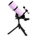 Pink TwinStar AstroMark 80mm 16-40x Portable Refractor Telescope Kids Pak Bundle