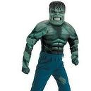 Kids The Incredible Hulk Boys Mask Muscle Costume 7-8 Boys Boys 7-8  Childrens Marvel Comics Officially Licensed The Incredible