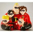 Disney / Pixar - Enesco - The Incredibles - Ceramic Bank Bust - 8 x 7 Inches - New - Limited Edition - Out of Production - Cole
