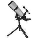 Silver TwinStar AstroMark 80mm 16-40x Portable Refractor Telescope Kids Pak Bundle