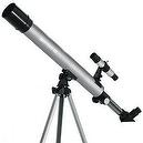 Silver TwinStar AstroMark 50mm 75x Power Refractor Telescope
