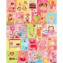 Oopsy Daisy Favorite Things Alphabet Girl Stretched Canvas Wall Art by Winborg Sisters, 24 by 30-Inch