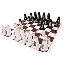American Educational YTC-237-4 Chess Set with Cone Checker