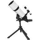 White TwinStar AstroMark 80mm 16-40x Portable Refractor Telescope Kids Pak Bundle