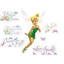 "Tinker Bell - I Believe in Faries Disney Mega Wall Decal Pack - Includes 1 Giant 27.5"" x 30"" Tinkerbell Wall Decal, 5 Glittered"