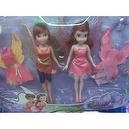 Disney Fairies Rosetta and Fawn Playset with Extra Outfits