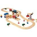 PlanToys Road & Rail Transportation Play Set