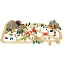Bigjigs Mountain Railway Complete Wooden Train Set (112 Piece)