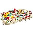 145 PC WOODEN TRAIN SET BY MAXIM