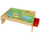 Bigjigs Train Set Table with Drawers