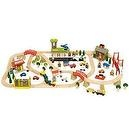 Bigjigs Transport Complete Wooden Train Set (122 Piece)