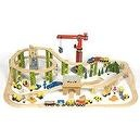Bigjigs Construction Complete Wooden Train Set (114 Piece)