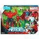 Marvel Universe 3 3/4 Inch Action Figure 3Pack Heroic Age Heroes Super Team Red Hulk, Iron Man Thor