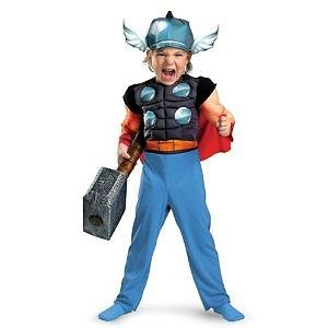 Thor Toddler Muscle Costume,Toddler: 2T Thor Toddler Muscle