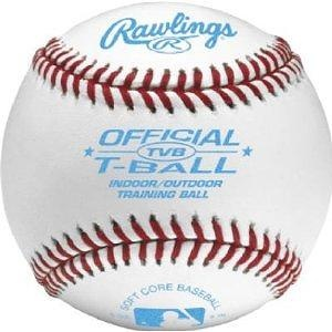 Rawlings Indoor/Outdoor T-ball Baseball - Leather Cover (TVB) Rawlings Indoor/Outdoor T-ball Baseball