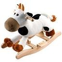 Happy Trails Plush Rocking Connie Cow With Sounds - White/Brown