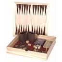 6 in 1 Combination Game Set: Checkers, Chess, Backgammon, Poker Dice, Domino, Playing Cards