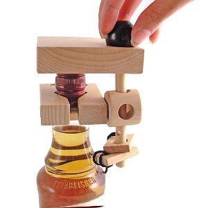 "Wine Accessory ""Dont Break the Bottle"" - Vise Edition Wooden Puzzle"